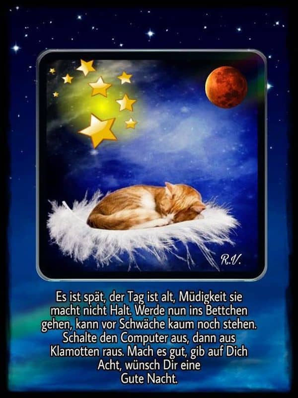 Per gute nacht whatsapp grüsse Gute Nacht