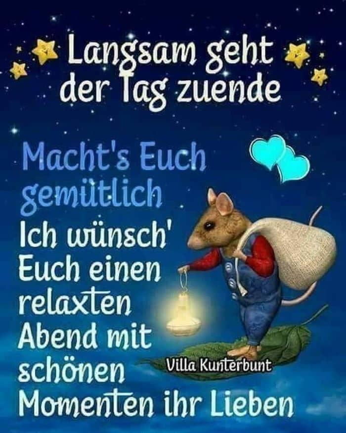 Schön guten abend