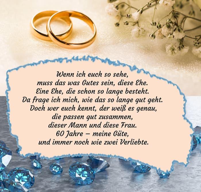 Sprüche zur Diamantenen Hochzeit 1