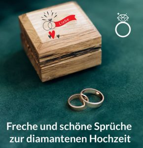 Hochzeit diamantene glückwünsche für Diamantene Hochzeit: